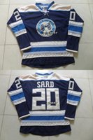 Wholesale Xxl Jackets Low Price - 2015 Newest Wholesale Men's Columbus Blue Jackets #20 saad blue Ice Hockey Jerseys,Mix color and size,Best Quality,Low Price