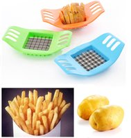 Wholesale potato fries cutter resale online - Free EMS Stainless Steel Vegetable Potato Chips Slicer Cutter Chopper Chips Making Tool Potato Cutting Device Fries Tool