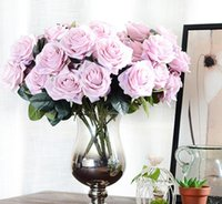 Wholesale French Artificial Flowers - Artificial silk Bunch French Rose Floral Bouquet Fake Flower Arrange Table Daisy Wedding Home Decor Party accessory Flores G1068