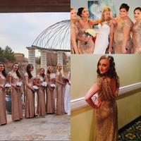 Discount junior plus pink bridesmaid dresses - 2017 Hot sale Blingbling Full Sequins Junior Bridesmaid Dresses Custom Made Cap Sleeves Plus Size Cheap Bridesmaids Prom Dress Crew Neck