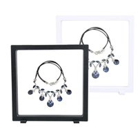 Wholesale Necklace Presentation - 18*20cm PET Membrane Accessories Jewelry Necklace Packaging 3D Display Box Bague Jewellery Presentation Stand Holder Rack