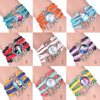 Wholesale Sideways Charms For Bracelets - 2015 Frozen infinity charms Bracelets bangle Antique Bronze Sideways Queen Elsa princess Anna Olaf Love Wristbands gift for women kids
