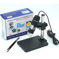 Wholesale Microscope Free Shipping - Wholesale-Free shipping 1000x USB Digital Microscope + holder(new), 8-LED Endoscope with Measurement Software usb microscope + tweezers