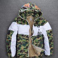 Wholesale Ape Clothing - Justin Bieber LOGO Fight color MA1 camouflage apes cotton clothing men 's sportswear Men's hoods kanye long-sleeved sweater palace shark