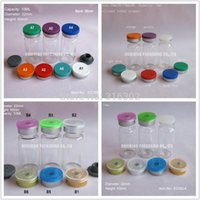 Wholesale Flip Bottle Stoppers - Free Shipping - 100 lot 10ml Clear Injection Glass Vial &Flip Off Cap, 1 3oz Amber Glass Bottle, 10cc Glass Containers