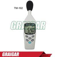Wholesale Noise Meter Display - Tenmars TM-102 Sound Level Meter   Noise Dose Meter ,with Auto Ranging IEC 61672, Type II TM102, 1 2 digits LCD display 30~130dB