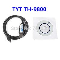 Wholesale Usb Programming Cable For Tyt - Free Shipping For TYT CP-06 USB Programming Cable For TYT TH-9800 Black With Software CD