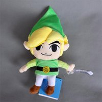 "Wholesale Legend Zelda Link Doll - Free Shipping New Legend of Zelda Plush Doll Stuffed Toy Waker Link 7"" Good For Gift"
