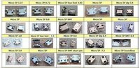 Wholesale Model Connectors - Wholesale-20 models micro usb connector 100pcs lot Very common used charging port for ZTE Lenovo Huawei and other brand mobile,tablet GPS