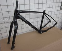 All'ingrosso-2015 Carbon Sandy Beach Bike Telaio 16/18 / 20in Max pneumatico 4.0 * 26er Carbon Fat Telaio Forcella Spazio Neve biciclette frame posteriore 197 * 12mm