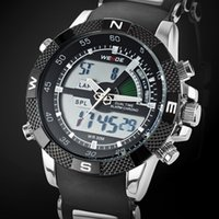 Wholesale Digital Watch Weide - new arrival original weide Digital Quartz watch wristwatch Man's boy water resistant Fashion popular black Male Hand Clocks Gifts