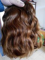 sarışın brazilian dalga saç paketleri toptan satış-Yeni stil brezilyalı bakire doğal dalga saç atkı sarışın 30 # renk İnsan saç uzantıları 110g bir paket