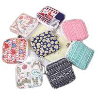 Wholesale Female Hygiene - Wholesale- 1PCS Zipper Sanitary Towel Bags Storage Female Hygiene Sanitary Napkins Package Small Cotton Storage Bag Coin Purse 8 Colors