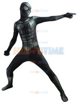 Wholesale Popular Halloween Costumes - Spider-Man Costume Spider-Armor Suit Black Spiderman Costume For Halloween And Cosplay The Most Popular Zentai Suit Free Shipping