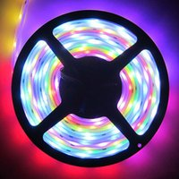 Wholesale Led Strip Program Controller - Magic LED Strip Dream Color 6803 IC 5050 RGB SMD Light 150 LEDs 5M waterproof 133 Colors Program With Controller 2015 New Arrival By DHL