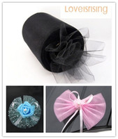 "Wholesale tulle spools free shipping - Tracking Number---4 Rolls 6""x100y Black Color Tulle Rolls Spool Tutu DIY Craft Wedding Banquet Fabric Wedding Car Decor--Free shipping"