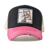 Supper Cool Unisex Hip Hop Hats Patch Cat Snapback Berretto da baseball Donna Uomo Traspirante Maglia Trucker Gorras Hombre Drake Kpop Bones