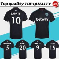 Wholesale Quality Ham - WestHam United away black Soccer Jersey 2017 18 West Ham United Soccer Jersey 17 18 West Ham United Football Shirts Thai Quality Jeresys