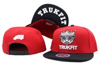 Wholesale trukfit shipping - Snapback Hats Caps Hats for men Adjustable red black Snapback Cap Collection Trukfit king Snapbacks free shipping YP