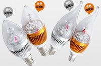 3W LED ampoule à bougie CREE LED E12 E14 E27 3W LED Lights LED Spot LED Light LED Spot Light 3 * 1W USA vendeur