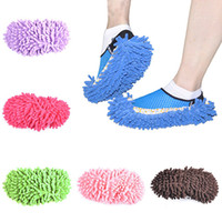 Wholesale New House Cleaning Mop - Wholesale- New Arrival Bathroom Dust Floor Cleaning Slippers Shoes Mop House Clean Shoe Covers