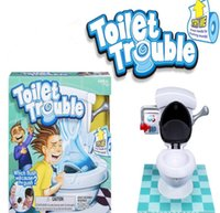 Wholesale Plastic Toy Toilets - 2017 New kids toy Toilet trouble game Washroom Tricky Toys Funny Game parents-kids friends play together for fun as a gift