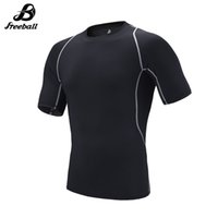 Wholesale Tight Shirts Sport For Men - Jimesports 2018 Quick Dry Running T-shirt for Men Short Sleeve Sports Gym Fitness Soccer Training Jersey Jogging Compression Tight Shirt