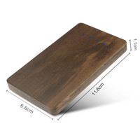 Wholesale External Universal Rechargeable Backup Battery - Creative Bamboo Rechargeable Treasure Universal 4000mAh Portable Mobile Power External Backup Battery Charging Cell Phone Power Banks