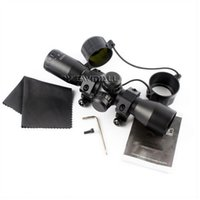 Wholesale Scope Rangefinders - Tactical 4X32 Compact Riflescopes scope Sports Rangefinder Reticle Hunting Scopes With Adjustable Rail Mounts best quality