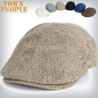 Wholesale Gatsby Newsboy Hats - Summer Peaked Beret hat Newsboy Visor Hats Caps Golf Driving Cabbie beret Gatsby Flat Cap flax Hat