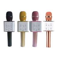 microphone haut-parleurs bluetooth achat en gros de-Q7 Bluetooth Microphone Portable De Poche KTV Karaoke Player Haut Parleur Avec MIC Haut-Parleur Pour iPhone 7 Plus Samsung S7 Edge