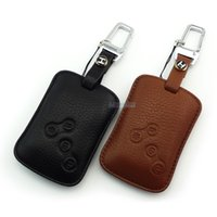 Wholesale Renault Leather - High quality Genuine Leather key Case for RENAULT TALISMAN LACUNA MEGANE LATITUDE SCENIC FLUENCE KOLEOS key wallet