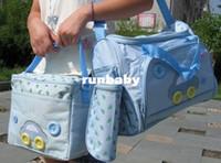ingrosso bottiglia del bambino nuovo-Nuovo 2015 4 pezzi / set HOT multi-funzione moda mummia borsa per pannolini per neonati, durevole madre bagaglio bagnato, piccolo pad portabottiglie set