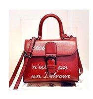 Wholesale Handbag Free Shiping - 2016 The letter PU letter women bag female handbag women shoulder bag high quality ladies messenger bag free shiping