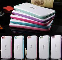en yeni durumlar iphone 5s toptan satış-Yeni çift Renkli iface Durumda iPhone 6 6 S Artı 5 5 S 4 S Arka Kapak dot kılıf iphone6
