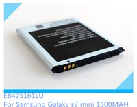 Wholesale Galaxy S7572 - Galaxy S3 Mini 1500Mah Capacity 3.7V Li-ion Battery EB425161LU Replacement For Samsung i8160 S7560 S7572 S7572 S7568 S7898 Top Quality