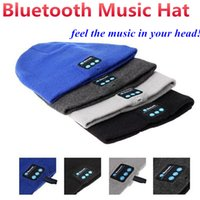Beanie/Skull Cap speaker fittings - Bluetooth Music Knitted Hat Soft Warm Wireless Speaker Receiver Outdoor Sports Smart Cap Headset Headphone support for iphone s Samsung