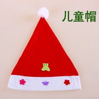 Wholesale WholesaleChildren prettyA variety of colors cute animal flowers butterfly jewelry red Christmas hatKindergarten Christmas show dress costume
