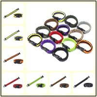 200Colors Survival Self-rescue Cord Rope Paracord Buckle Braceletes Military Bangles Sport Outdoor Aids Gadgets para Camping Escalada