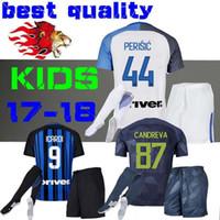 Wholesale Mario Football - 17 18 ICARDI inter jersey soccer J. Mario kids kit home away maglietta da calciatore 2017 VECINO PALACIO SKRINIAR milan third football