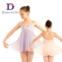 Wholesale Chiffon Long Ballet Skirt - Free shipping Child long chiffion skirted dress C2138 wholesale ballet dance dress ballet dance clothing ballet dance costumes discount