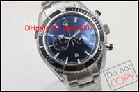 Wholesale Planet Ocean Sapphire - Luxury Top Quality Mens Watch Planet Ocean Co-Axial James007 Jason007 Stainless Steel quartz Movement Chronograph Black Men's Watches