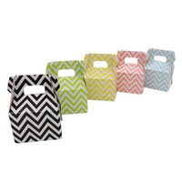 Wholesale Chevron Gift Bags - 500pcs stripe polka dot chevron Paper Candy Box gift bag Chocolate Packaging Children Birthday Party Wedding Decorations Favors