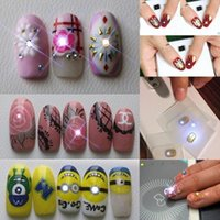 Wholesale Decals Nail Art Sticker - NFC Chip Nail Stickers With LED Light Flash DAZLN Nail Art Tips Lighting Nail Decal DIY Decoration Tool