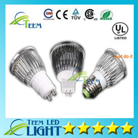 12v led b22 toptan satış-CE Dim CREE Led Lamba 9 W 12 W 15 W MR16 12 V GU10 E27 B22 E14 110-240 V Led spot Işık Spotlight ampul ışıkları downlight aydınlatma