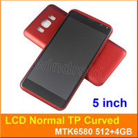 Wholesale Dual Sim Card Case - S8 5 Inch Smartphone MTK6580 Quad Core Android 5.1 Dual SIM 3G Unlocked Curved Screen 854*480 Flashlight Mobile Cell phone Free with case 5