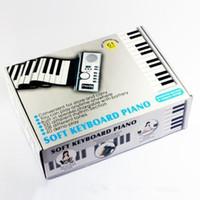ingrosso tastiera di pianoforte rotolabile portatile-Buon 61 tasti morbido portatile flessibile digitale digitale Roll up tastiera musica per pianoforte