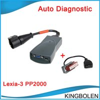 Wholesale Lexia3 Dhl - 2017 Hot for Citroen for Peugeot Diagnostic Tool Lexia 3 PP2000 Newest V48 7.65 software with 30Pin Cable lexia3 Lexia-3 DHL Free Shipping
