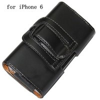 Wholesale Iphone 4s Pouches - 5.5'' 4.7'' Clip Belt Leather Case for iPhone 6 Plus 4 4S 5 5S Hang Waist Holster Skin Cover Hanging Pouch