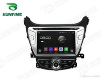 Wholesale Android Car Radio Hyundai - Quad core 1024*600 HD Screen Android 5.1 Car DVD GPS Navigation Player for HYUNDAI Elantra 2014 Bluetooth Wifi 3G Steering Wheel Control